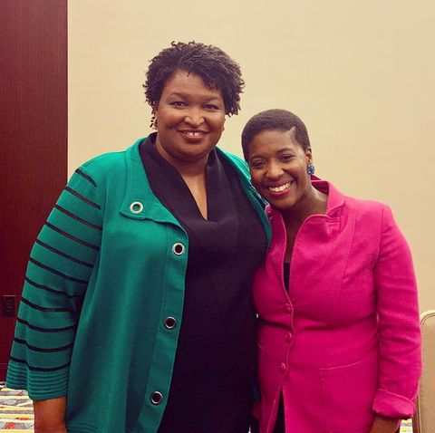 Jonae Wartel with Stacey Abrams